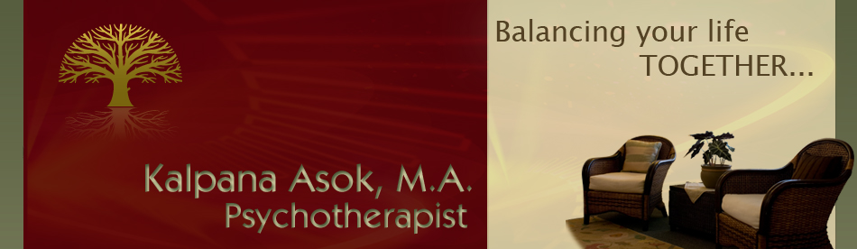 Counseling Therapy Psychotherapy Therapist Cupertino, Los Altos, Saratoga, CA, California - Kalpana Asok, M.A., MFT